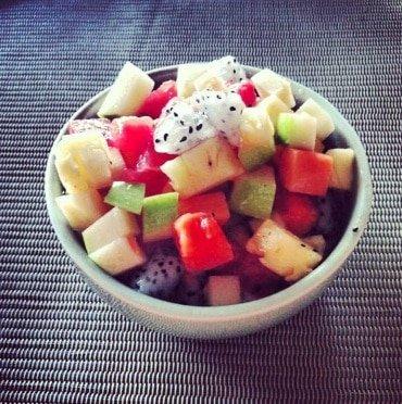 Freeletics Rezept Frucht Salat Nachspeise