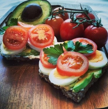 Freeletics Rezept Snack Brot Ei Avocado