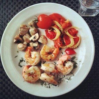 Freeletics Hauptmahlzeit Shrimps