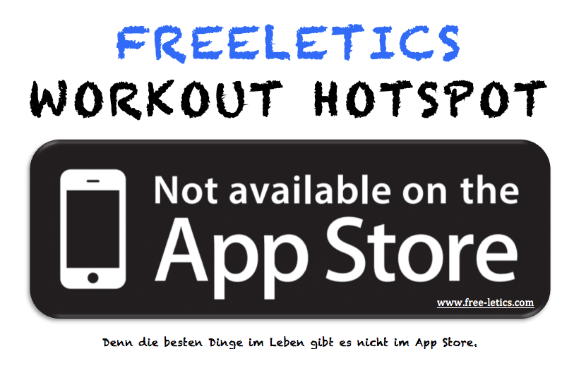 Freeletics Workout Hotspot not available on the app store