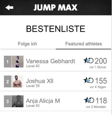 freeletics Jump Max workout bestenliste juni 2014
