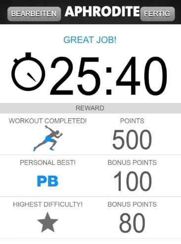 freeletics aphrodite workout pb woche 6