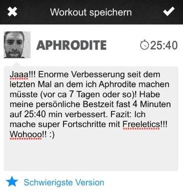 freeletics feed aphrodite workout woche 6