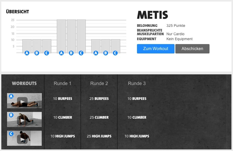 freeletics metis workout kostenlos