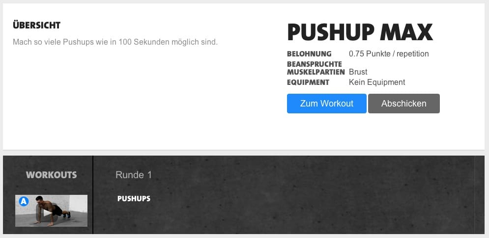 kostenloses freeletics workout pushup max