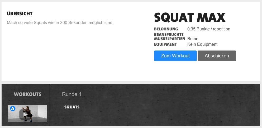 freeletics squat max