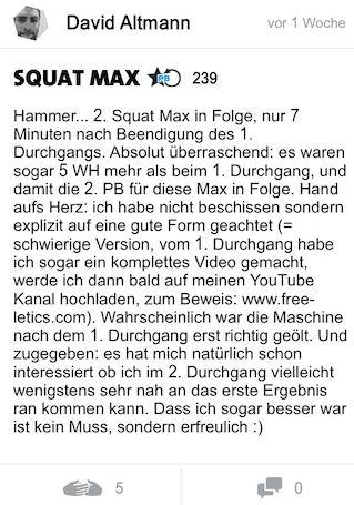freeletics erfahrung woche 14 squat max