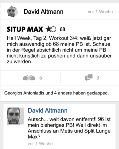 freeletics hell week tag 2 situp max