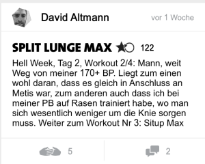 freeletics hell week tag 2 split lunge max