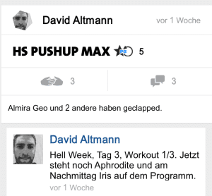 freeletics hell week tag 3 hs pushup max