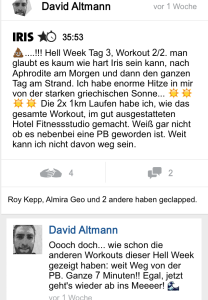 freeletics hell week tag 3 iris