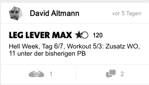 freeletics hell week tag 6 leg lever max
