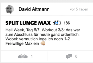 freeletics hell week tag 6 split lunge max
