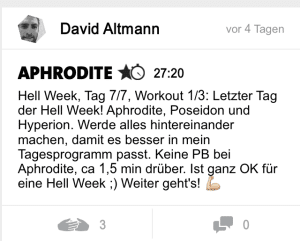 freeletics hell week tag 7 aphrodite