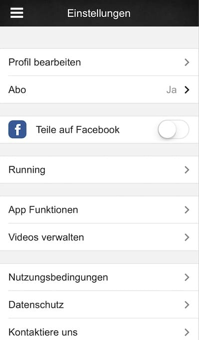 freeletics update app einstellungen