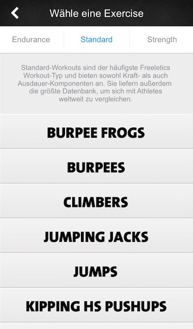 freeletics update app exercises