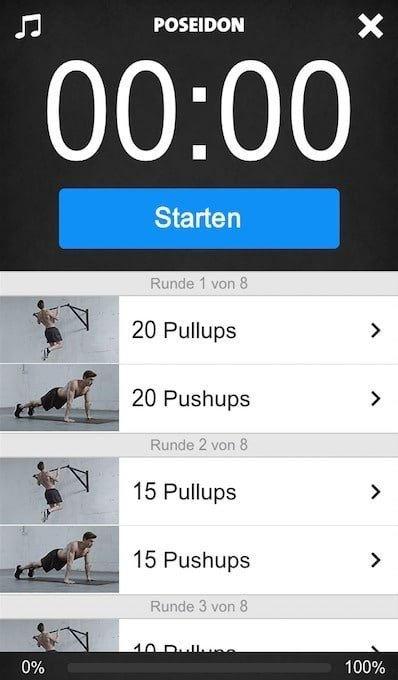 freeletics upgrade workout ablauf