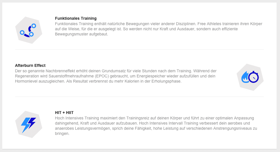 neues freeletics trainingskonzept