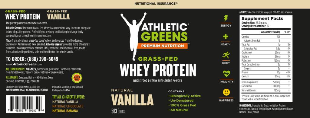 Athletic Greens Eiweisspulver Inhaltsstoffe